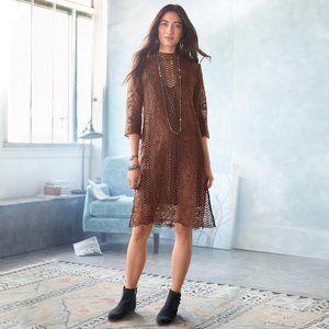 Sundance Dress Size 6 Chocolate Dreams Brown Lace